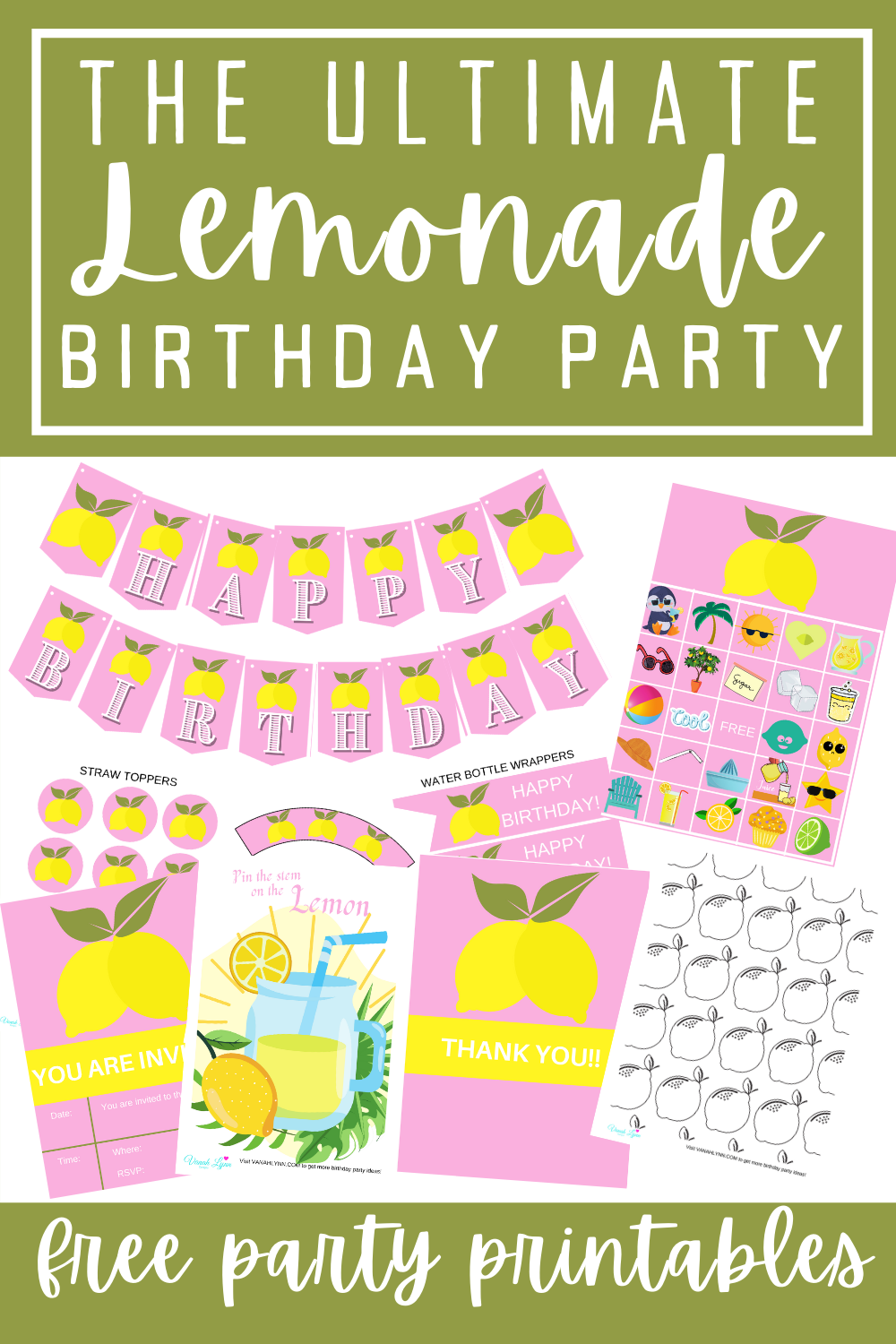 first birthday lemonade birthday party ideas