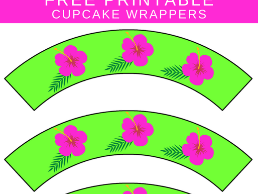 Tropical Flamingo Party Cupcake Wrappers -  Free To Print!