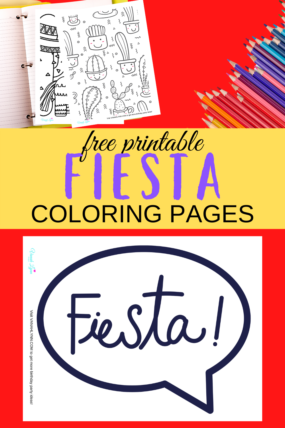 1st birthday fiesta themed activity sheets for toddlers