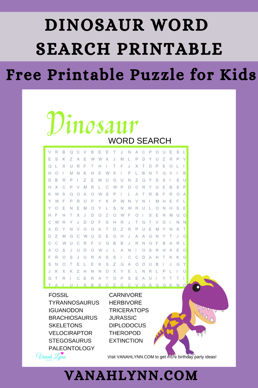 dinosaur birthday party game ideas for kids