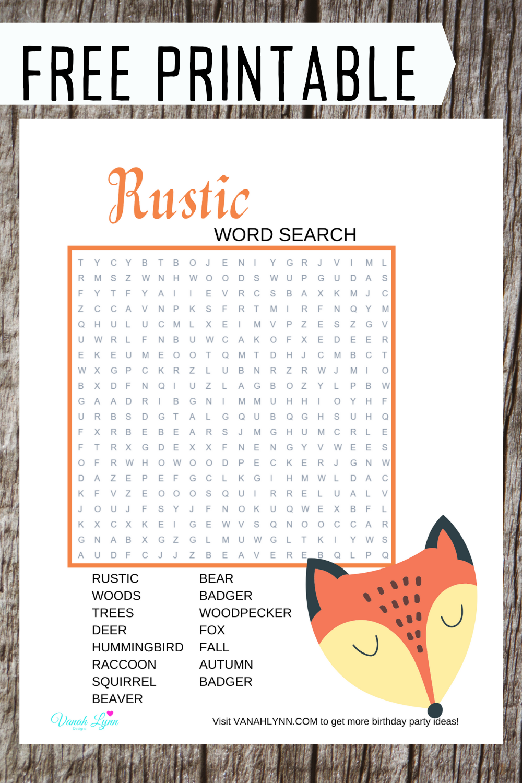 fox birthday party game ideas for children