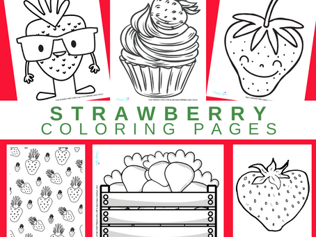 Strawberry Coloring Pages | Free Printable Strawberry Activity Sheets | Strawberry Birthday Ideas