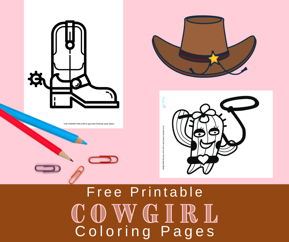 free printable cowgirl boot coloring page