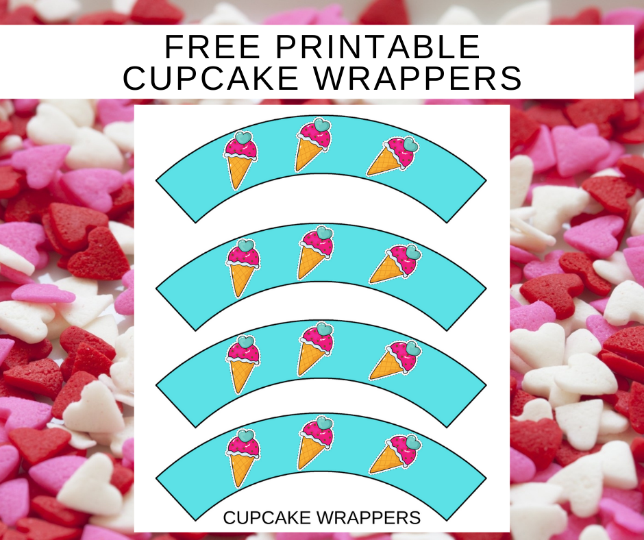 free printable ice cream cupcake wrappers