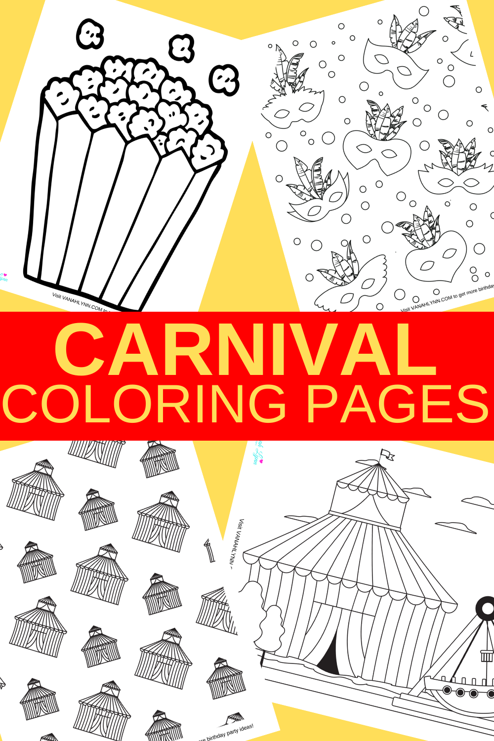 free printable carnival coloring sheets for a preschooler