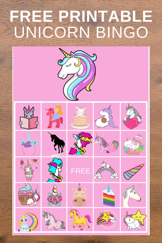unicorn bingo printable free