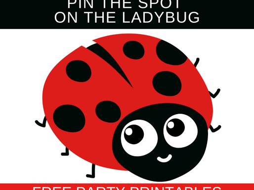 FREE Pin the Spot on the Ladybug - Ladybug Birthday Party Game Ideas