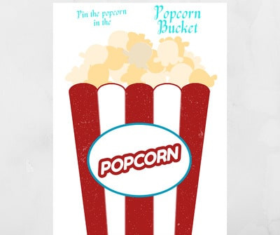 Pin the Popcorn to the Bucket - Carnival-Theme Party Ideas