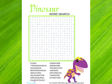 Dinosaur Word Search | Free Printable Dinosaur Themed Word Find | Dinosaur Activity Sheet Freebie