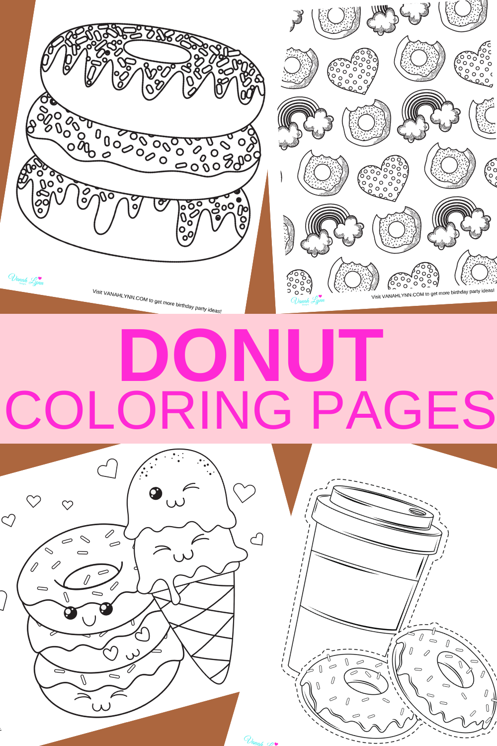 10 free downloads: donut coloring sheets for kids