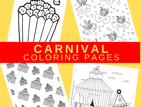 Carnival Coloring Pages | Free Printable Party Activity | Carnival Themed Birthday Party Ideas