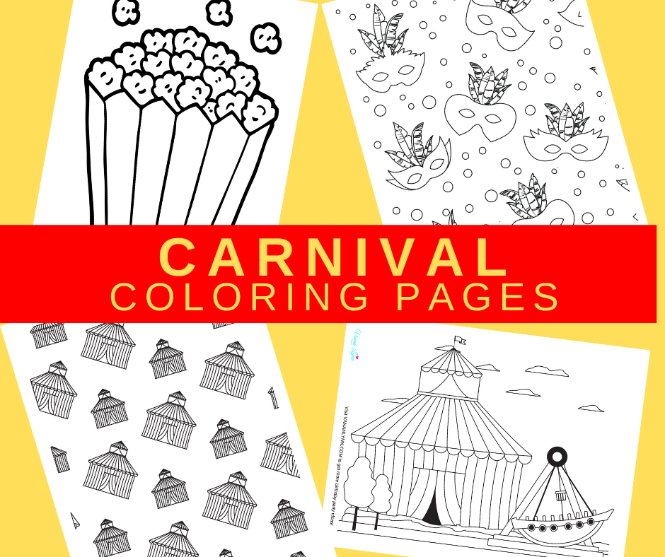 carnival themed coloring pages for a carnival birthday party