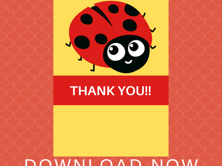 Ladybug Thank You Card | Free Printable Ladybug Thank You Note | DIY Ladybug Birthday Party Ideas