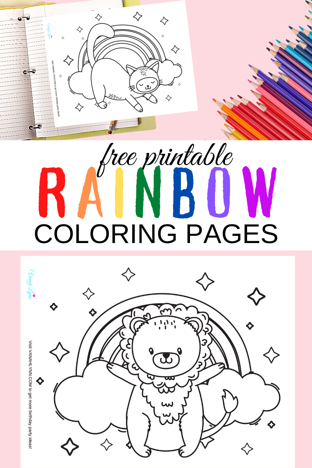 free printable coloring pages of rainbows