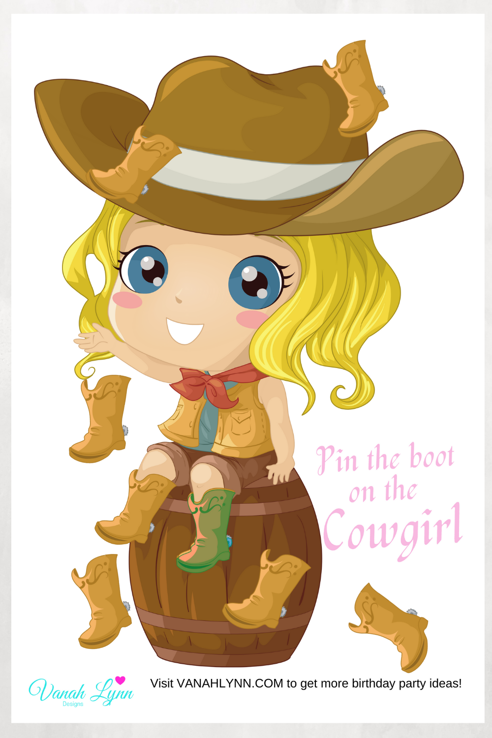 cowgirl 1st birthday party for girls