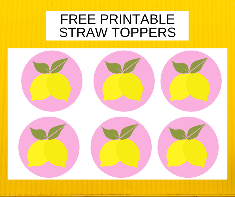 free printable lemonade straw toppers