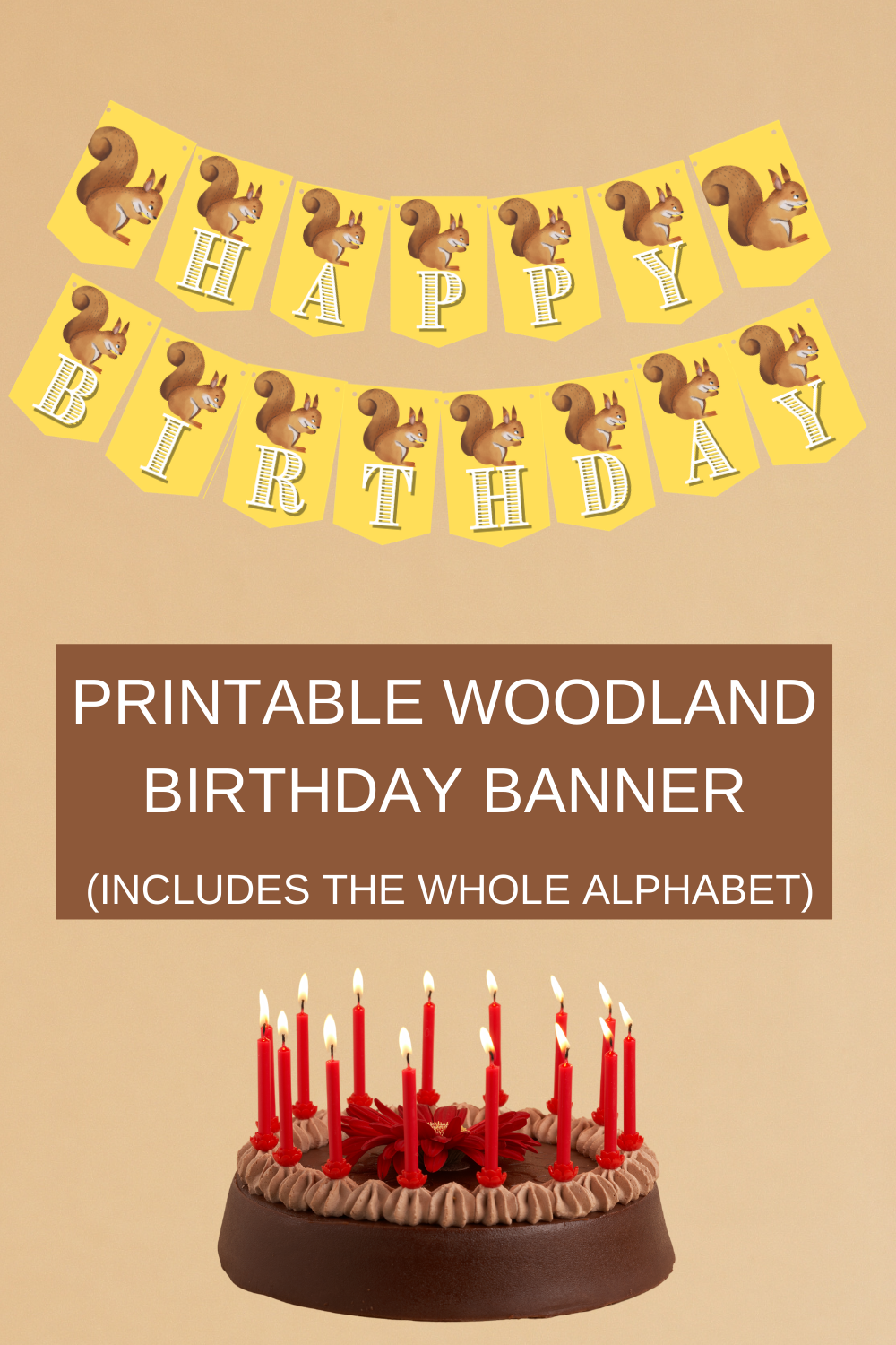 quick and easy birthday party decorations for a woodland birthday party