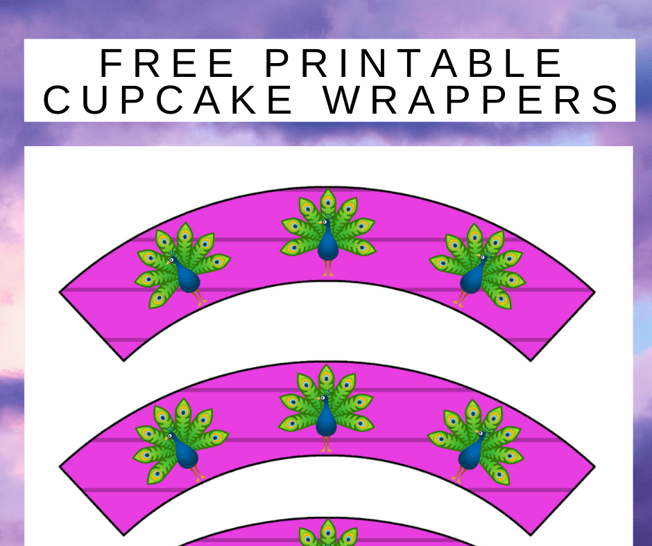 peacock cupcake wrappers