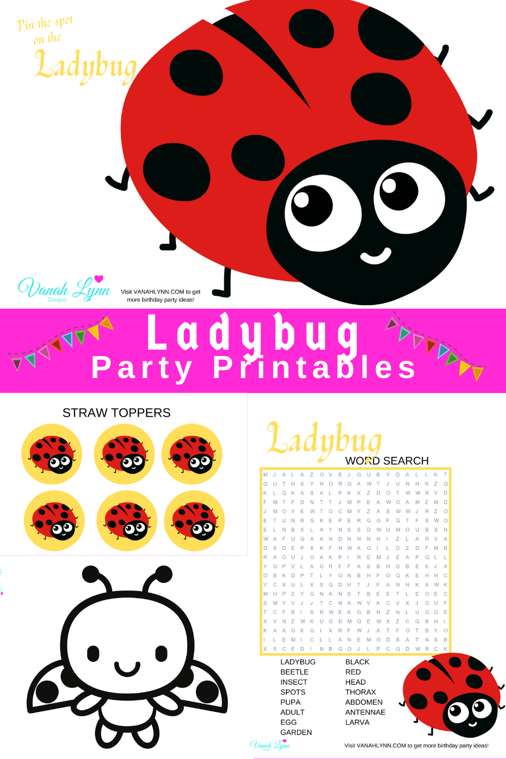 ladybug birthday party ideas for a 1st birthday party