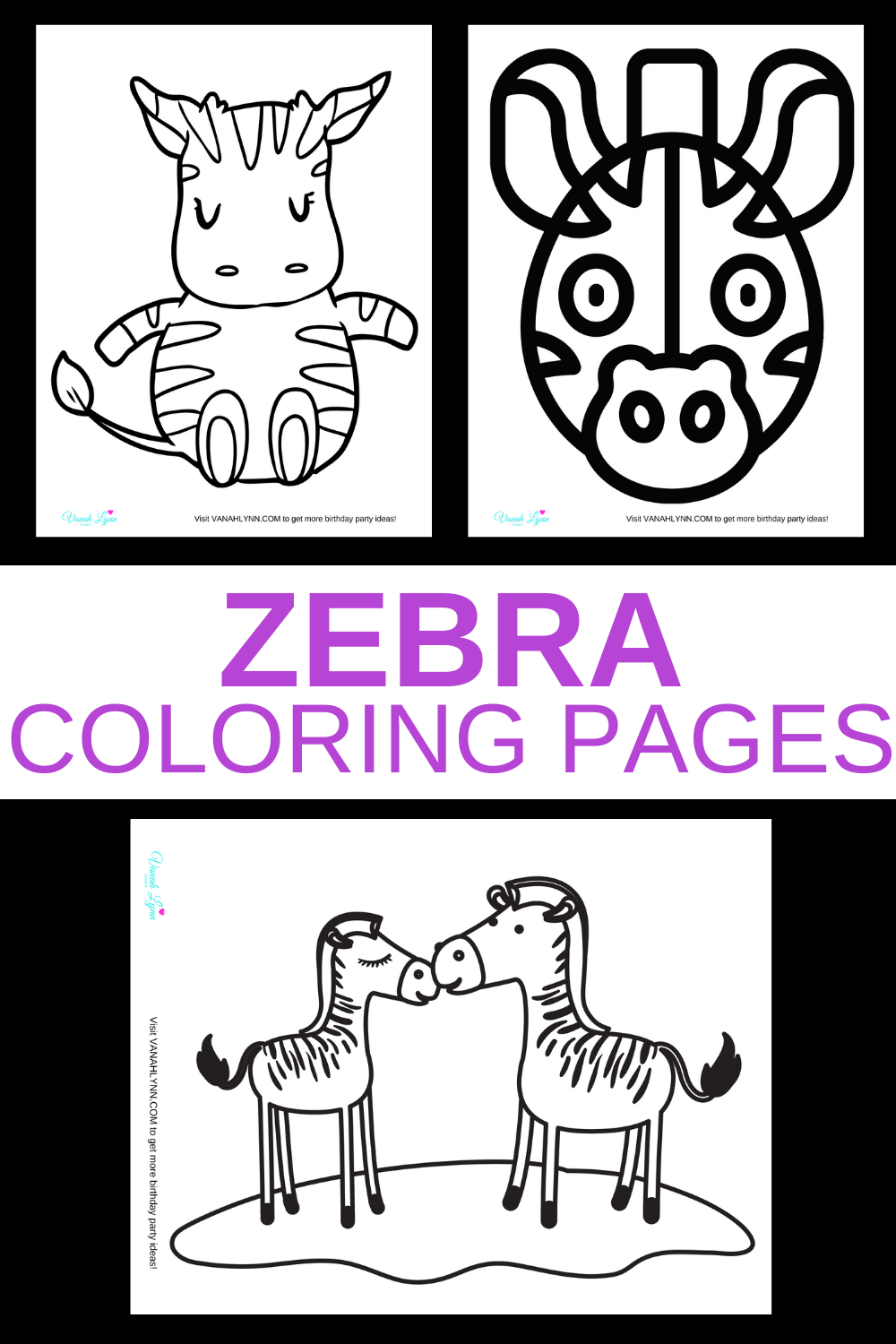 free download: zebra activity sheets for toddlers
