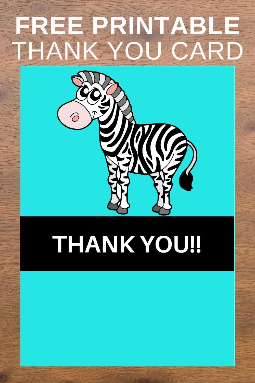 free download: zebra thank you card, printable birthday party ideas