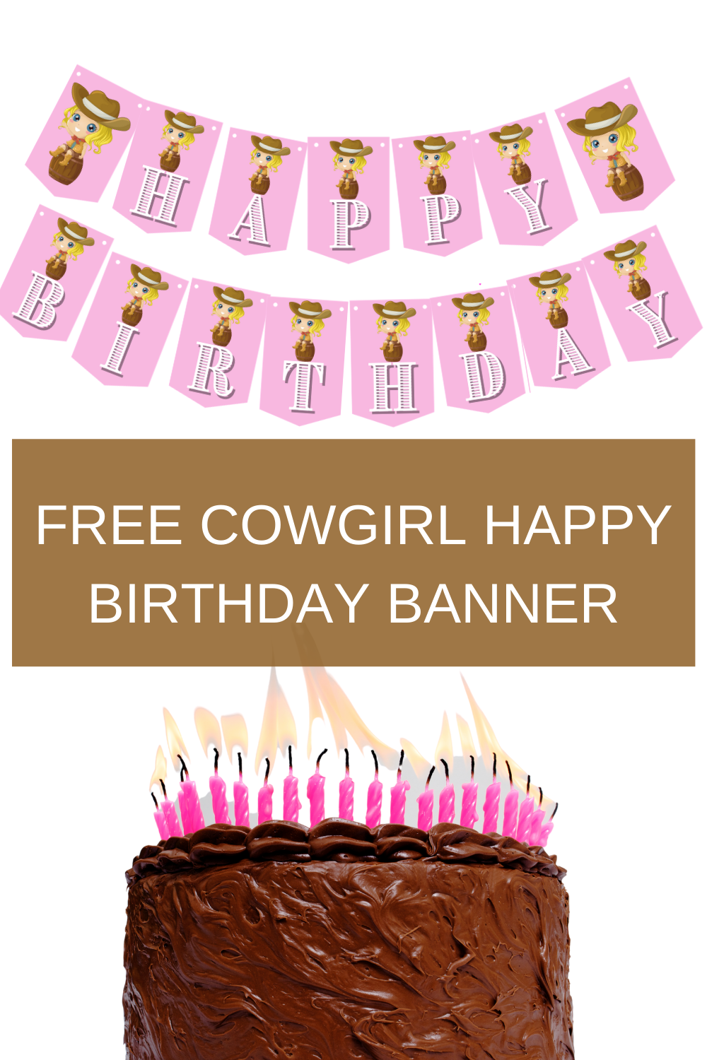 Pink cowgirl birthday decorations for a child's birthday