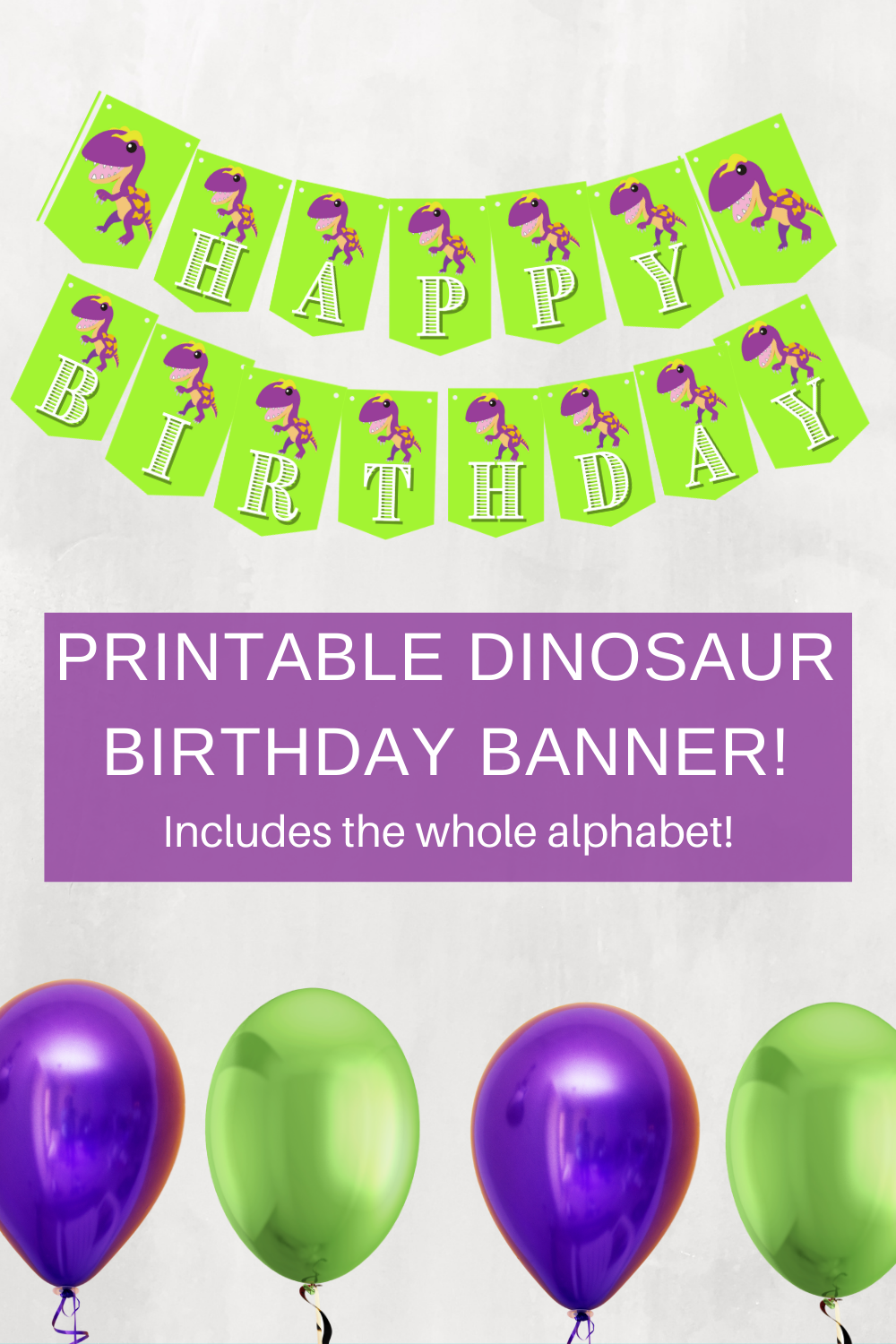 Free birthday party decorations for a dinosaur birthday party