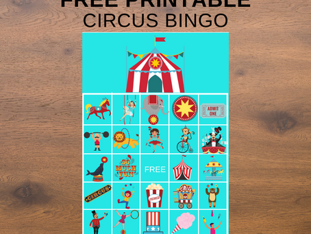 Circus Bingo | Circus Themed Party Game Idea | Circus Themed Birthday Party Activity