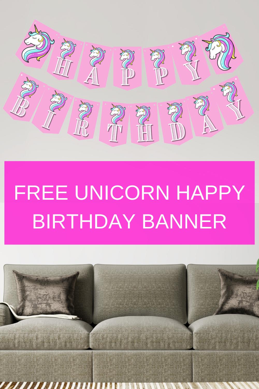 free printable unicorn birthday party decorations