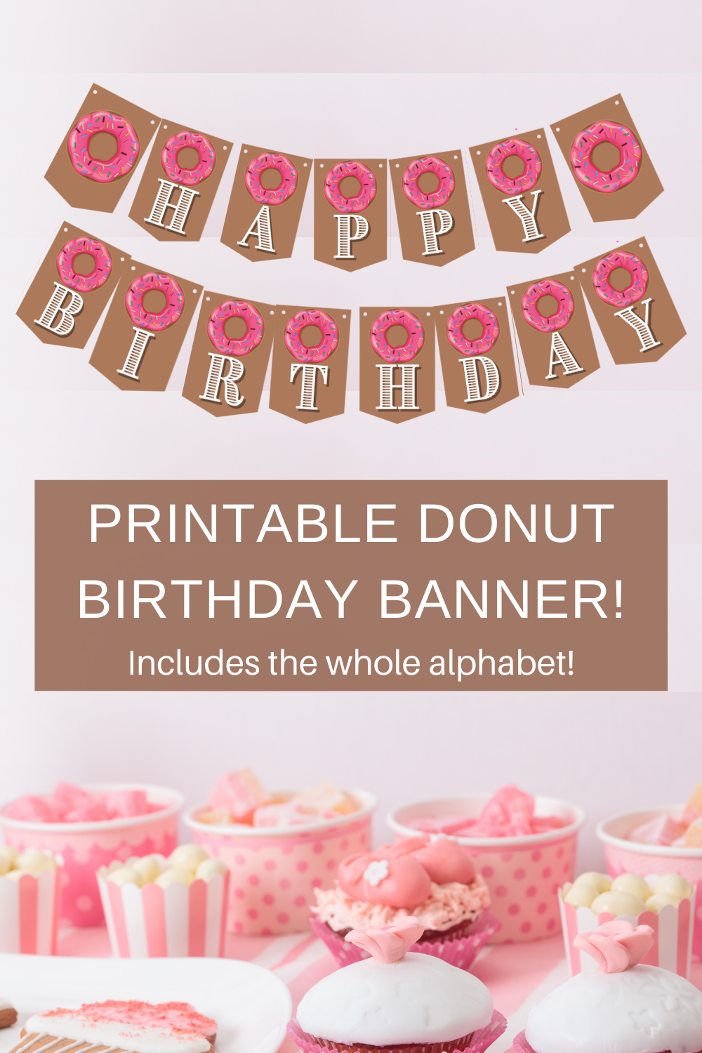 little girl's birthday party decorations for a donut birthday