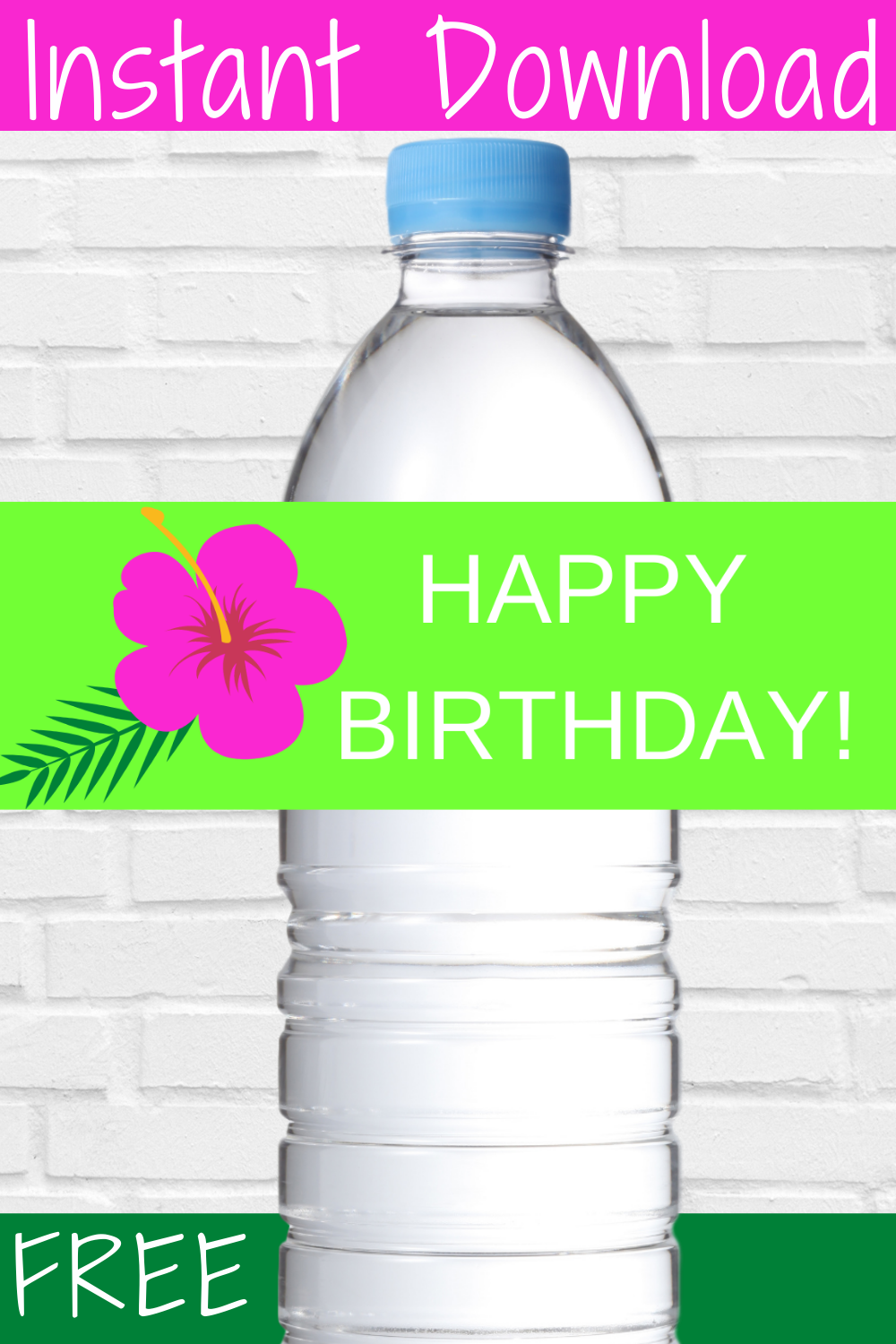 free download: tropical water bottle decorations for birthday party