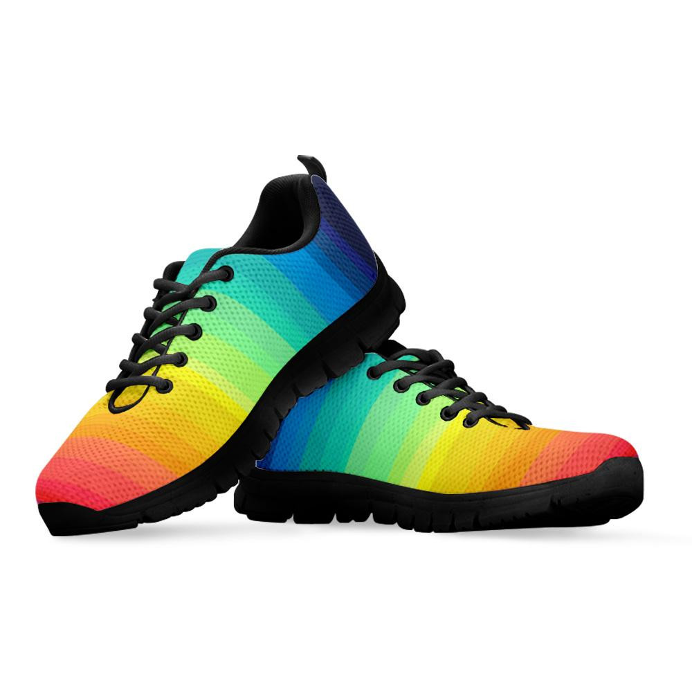 Adult sized rainbow sneakers