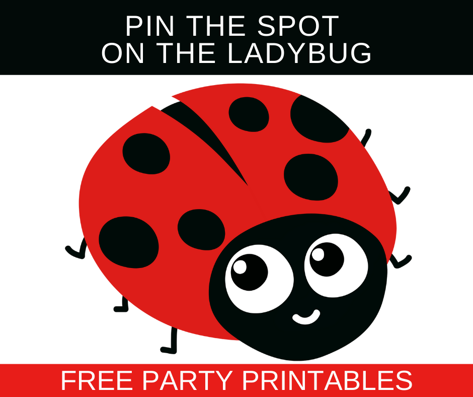 free printable ladybug birthday party games