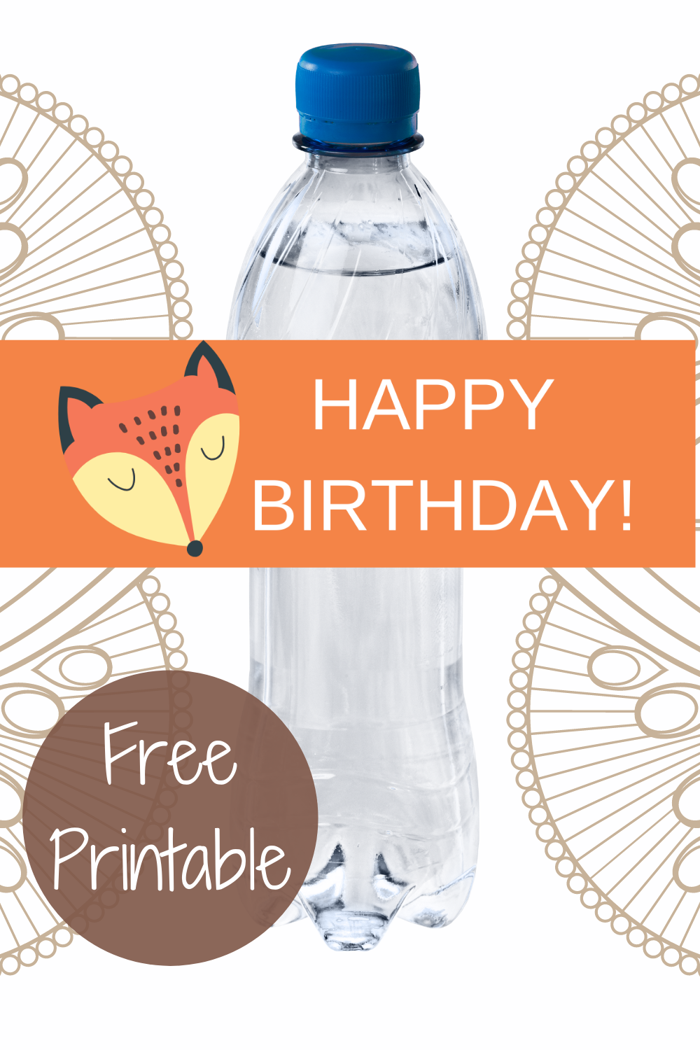 rustic animal first birthday water bottle lable