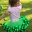 2 year old in a green tutu