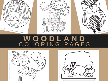 Woodland Coloring Pages | Free Printable Woodland Animal Activity Sheets | Woodland Birthday Party