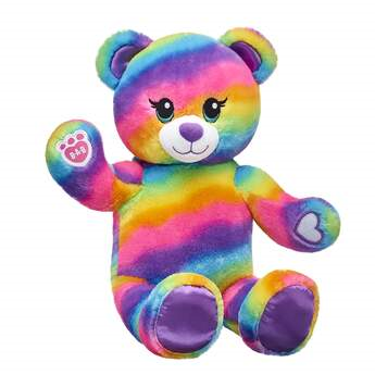 rainbow themed Build a Bear