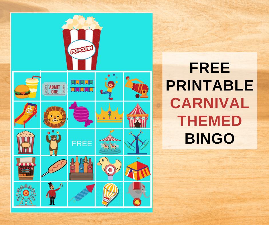 free printable carnival bingo cards