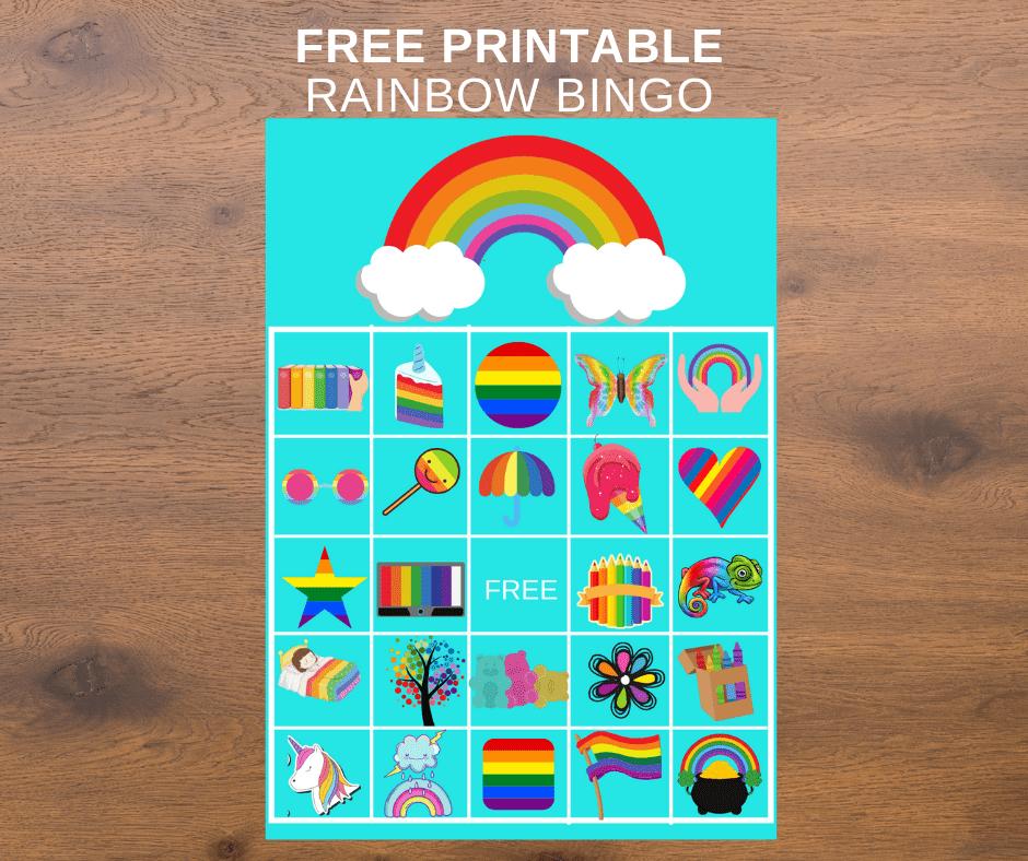 rainbow bingo printable
