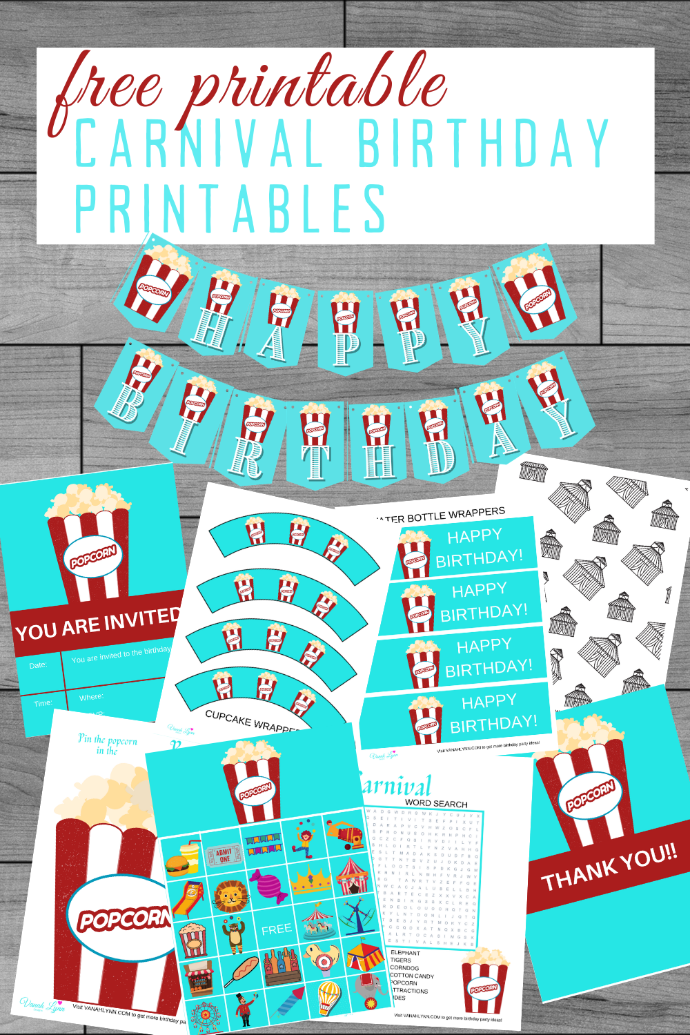 carnival 1st birthday party free printable party ideas