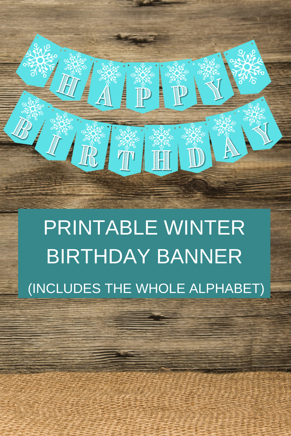ice queen winter themed happy birthday banner