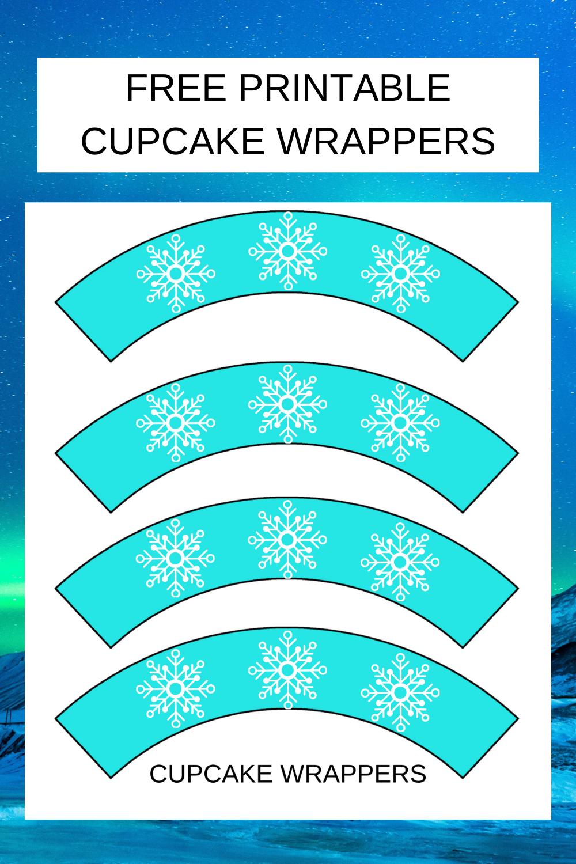 free printable snowflake cupcake wrapper