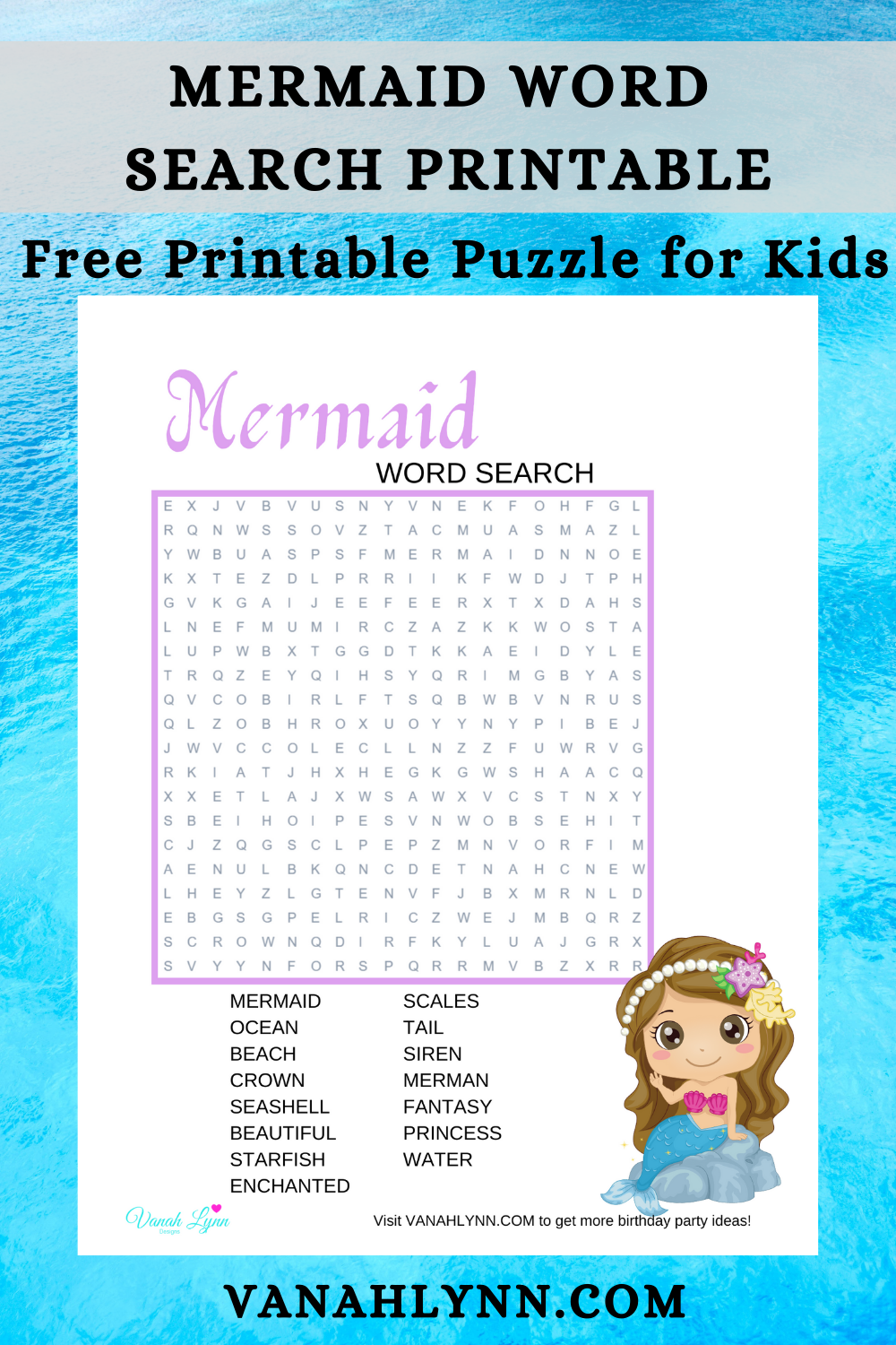 mermaid themed birthday party games for kids
