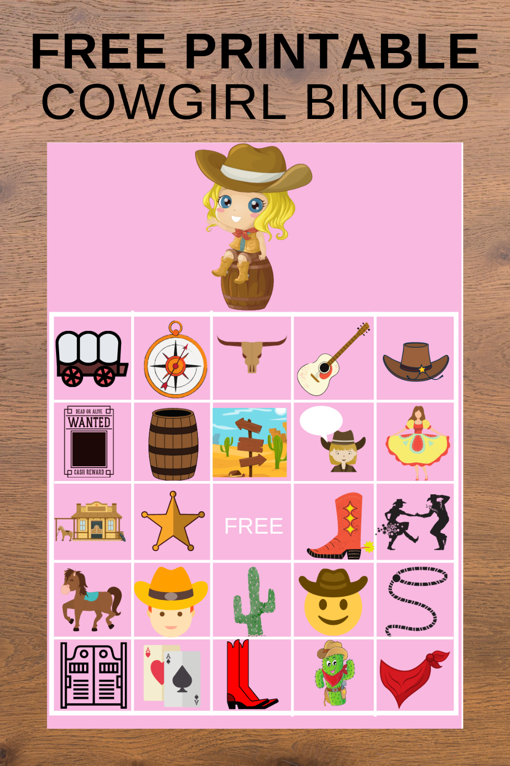 cowgirl bingo games for a 1st birthday party