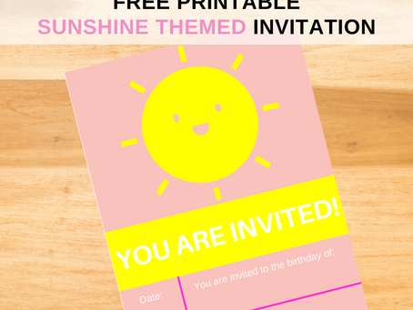 Sunshine Invite | Free Printable Sunshine Invitation | Sunshine Themed Birthday Party Ideas