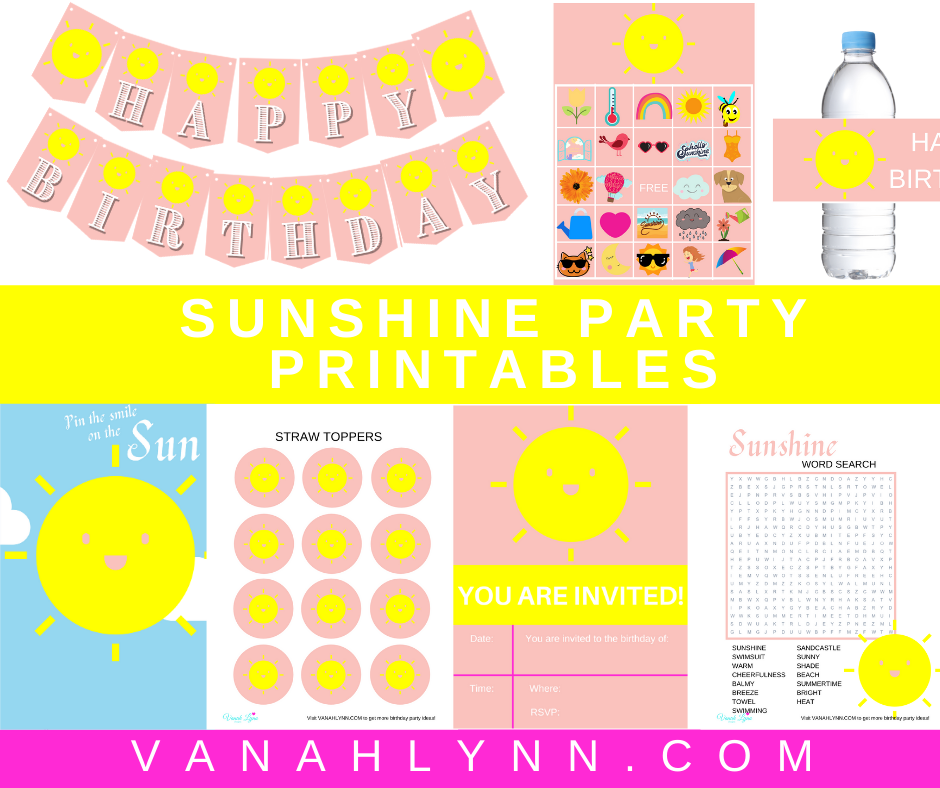 free printable sunshine party kit