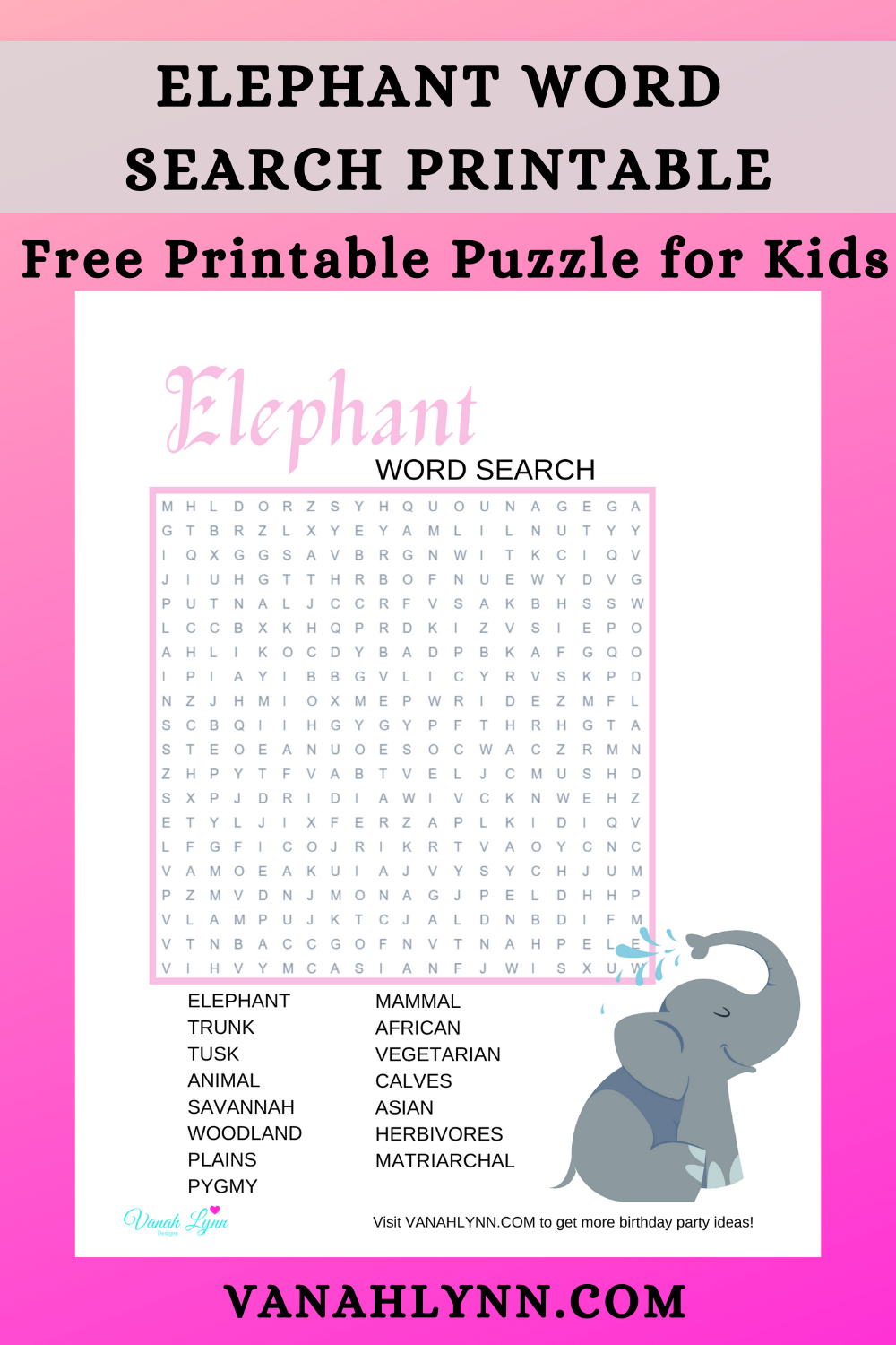 elephant birthday party game ideas for kids