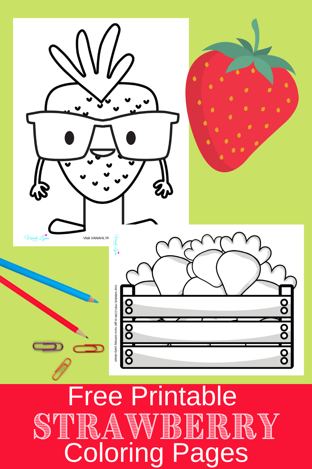 coloring pages for strawberry