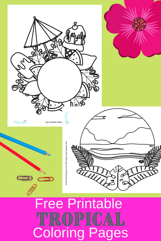 1st birthday tropical themed birthday party activity ideas