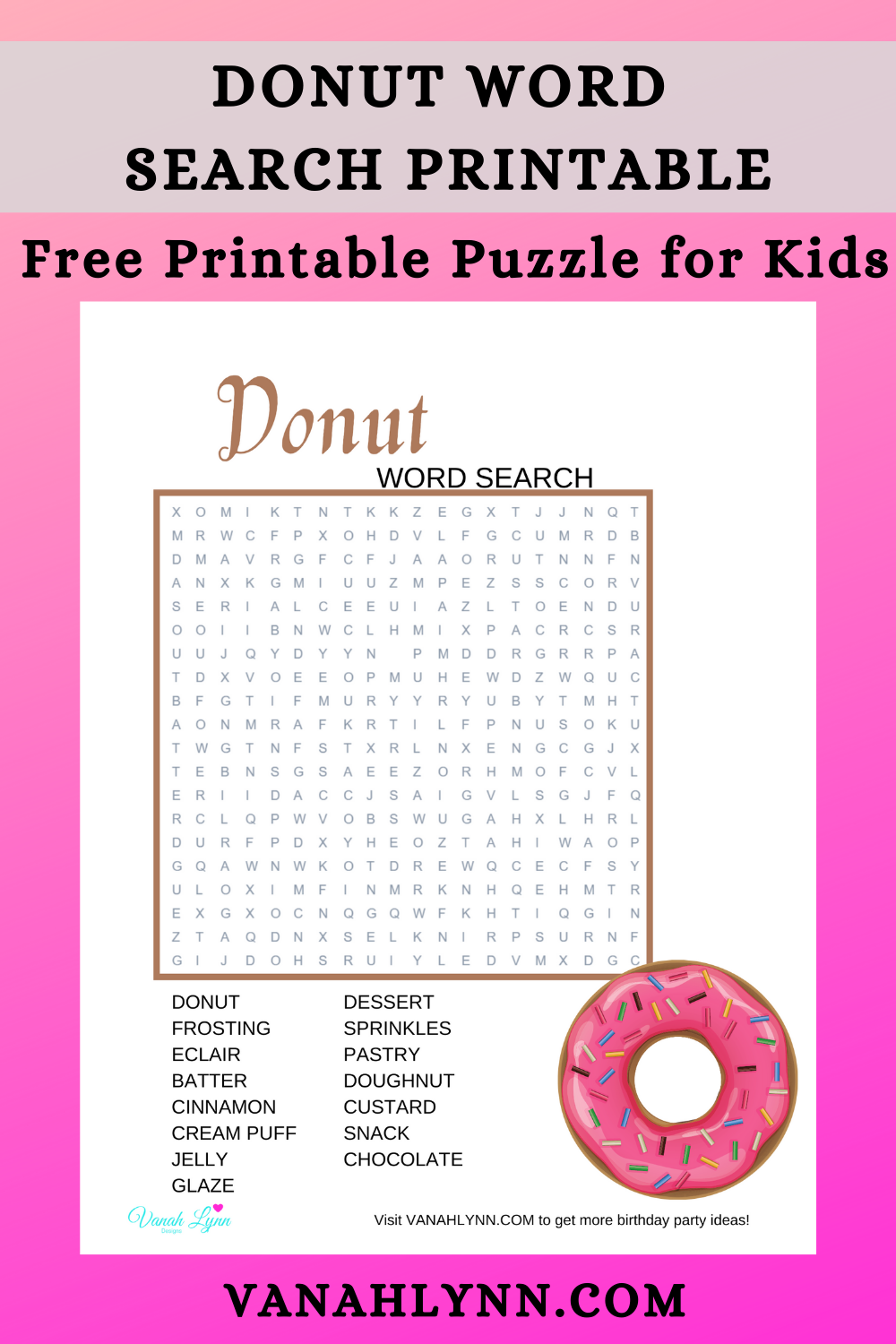 donut birthday party activity ideas for kids